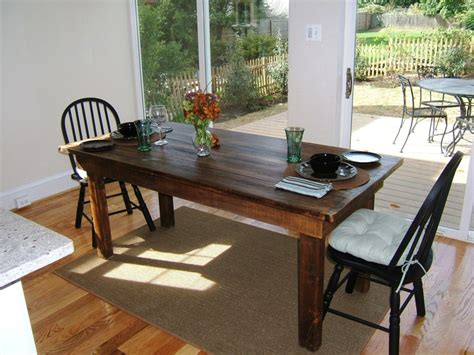 reclaimed dining room table custom made reclaimed wood farm table by stable tables