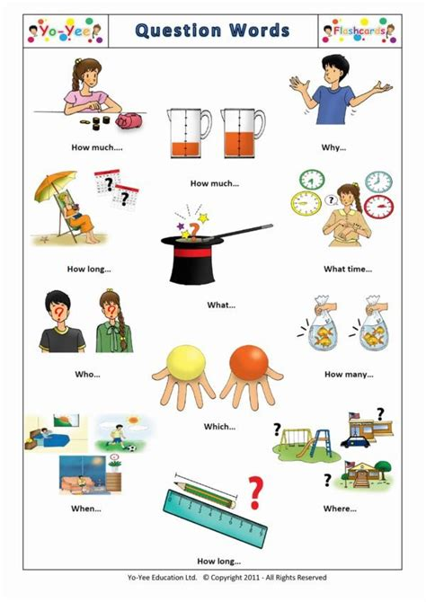 preguntas con get up french question words flashcards for children questions