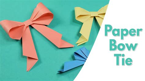 How To Craft A Paper - easy origami for paper bow tie simple paper craft