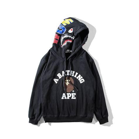 Jaket Bape Hoodie A Bathing Ape 7 a bathing ape hoodie hooded shark bape black