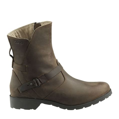 stylish womens motorcycle boots teva 174 delavina low leather for stylish