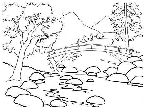 free coloring pages of nature drawing to color nature