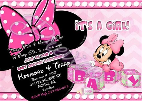 minnie mouse baby shower invitations templates minnie mouse baby shower invitations wording all