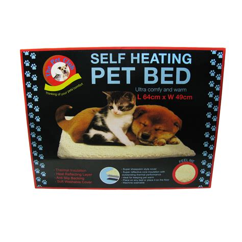 pet bed cat dog self heating sheepskin thermal washable