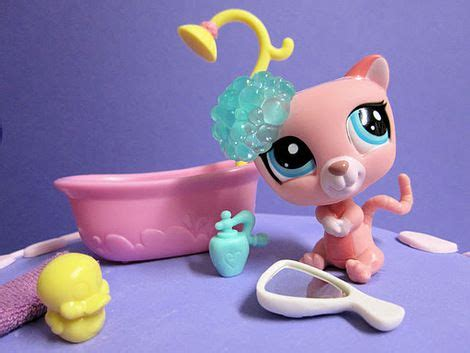 lps bathroom littlest pet shop bath set includes soap duck and