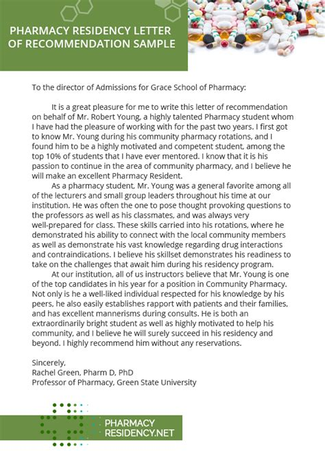 Pharmacy Residency Letter Of Intent