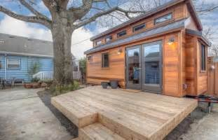 couple builds tiny home to live in their portland backyard