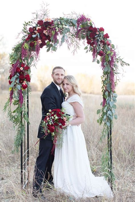 Decorate Fireplace 30 Winter Wedding Arches And Altars To Get Inspired