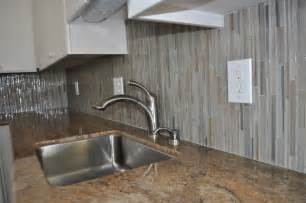 How To Install Glass Mosaic Tile Backsplash In Kitchen Kihei Glass Tile Backsplash Home Interior Design