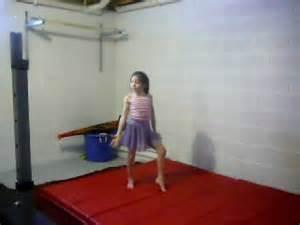 9yr home gymnastics routine