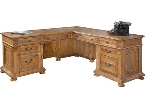 Classic Desk L by Hekman Office Express Relaxed Classic Executive L Desk 7