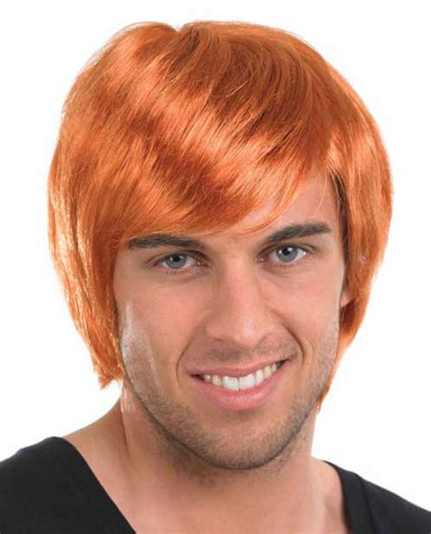 pub shop wigs male wig ginger boy band ginger wig the costume warehouse