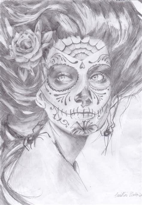 dia drawing dia de los muertos by lookscouldkill on deviantart