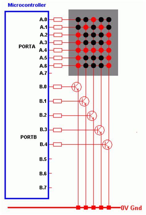 led multiplexing resistor displays