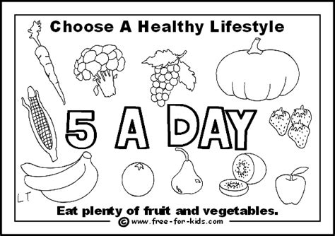 health coloring pages preschool healthy eating worksheets for children can make into a