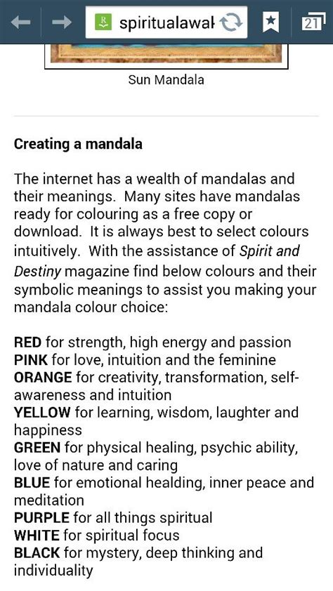 mandala meaning of colors mendala color meanings tattoos and piercings