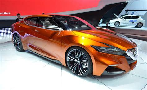 burnt orange nissan altima maxima to closely resemble sport sedan concept