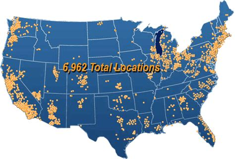 map us bank locations u s map turman