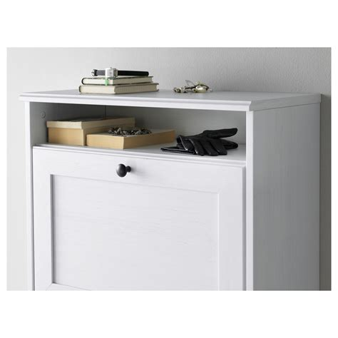 ikea brusali cabinet brusali shoe cabinet with 3 compartments white 61x130 cm