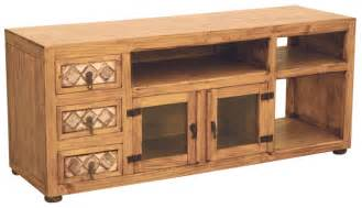 rustic pine tv stand with marble special order