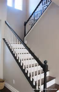 Black Stair Rail by Painted Stair Rails