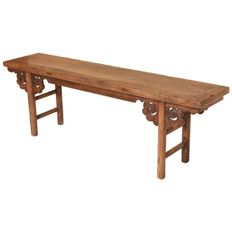 asian stools benches chinese wood bench stool at 1stdibs
