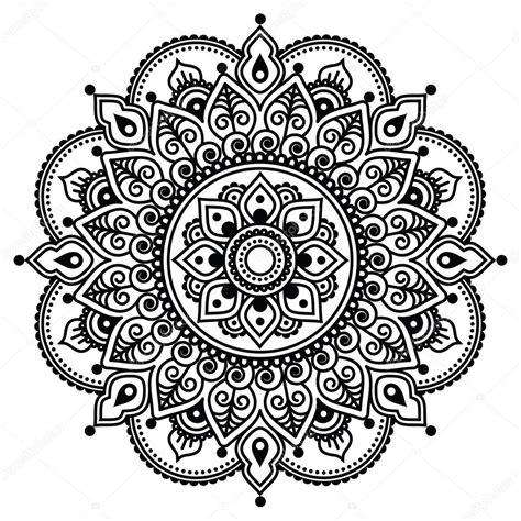 mehndi wz 243 r tatuaż henna indyjska lub tła grafika
