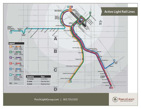 Current And Future Denver Metro Light Rail Stops