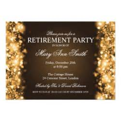 retirement gold sparkling lights 5x7 paper