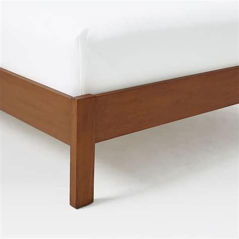 west elm simple bed frame simple bed frame acorn west elm