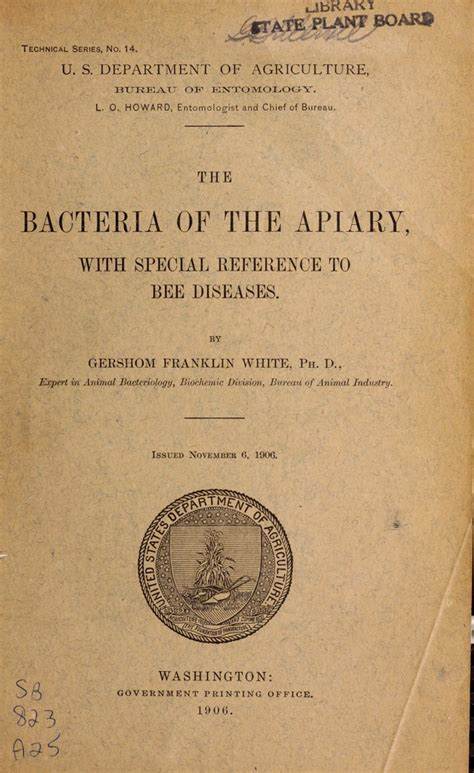 Transmittal Letter Uf The Bacteria Of The Apiary