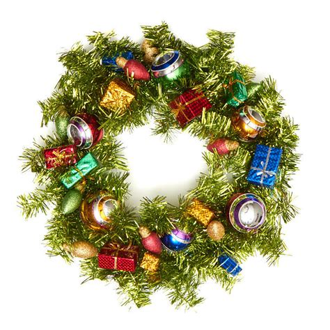 be joyful christmas tinsel wreath craft supplies sale