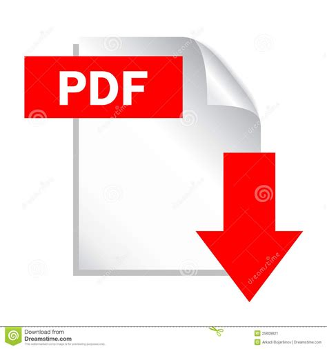 pdf in with pictures pdf button stock image image 25609821