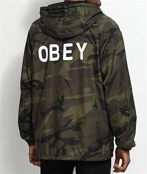Obey Camo obey afton camo coaches jacket zumiez ca