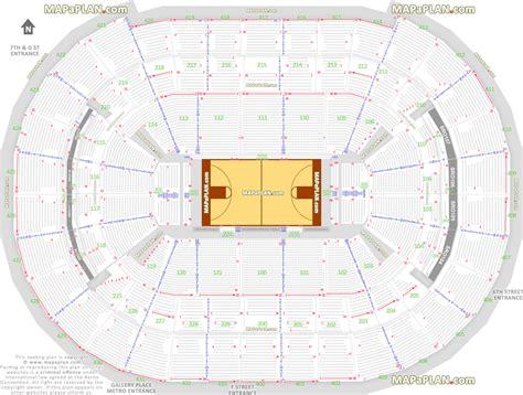 verizon center wizards seating view washington dc verizon center washington wizards nba