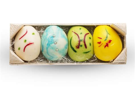 small handmade marzipan easter eggs dipped dried fruit