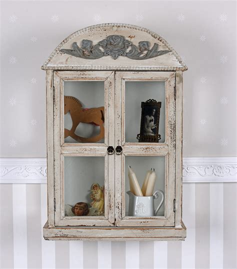 Wandschrank Vintage by Wall Showcase Shabby Chic Cabinet Antique Hanging Display