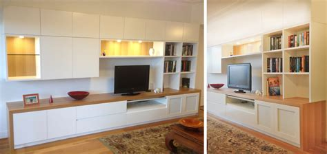 modern wall unit with desk