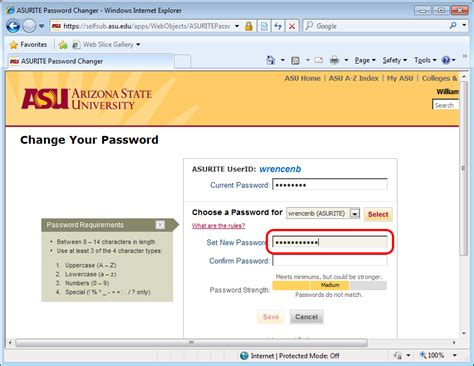 Asu Mba Requirements by Changing An Asu Password W P Carey School Of Business