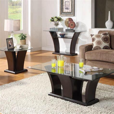 glass sofa table   great living room decor ideas