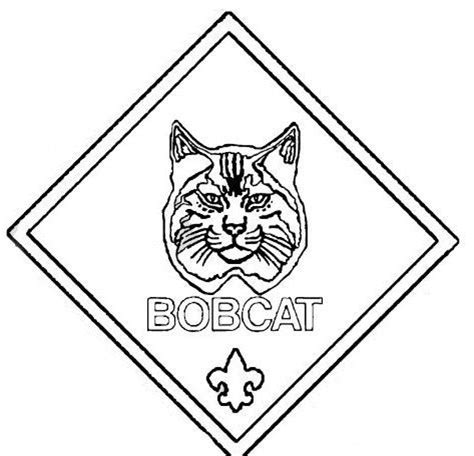 cub scout coloring pages cub scout bobcat pages coloring pages