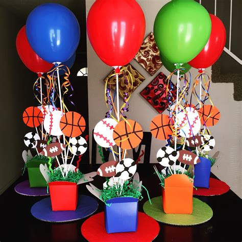 sports theme centerpieces diy 1st birthday diy