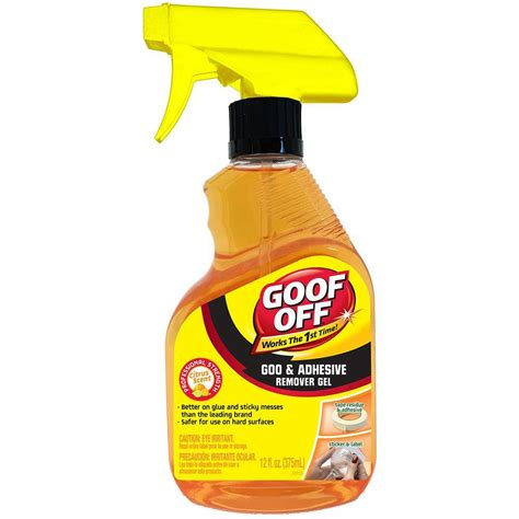 home depot spray paint trigger goof 12 oz goo and adhesive remover spray gel trigger
