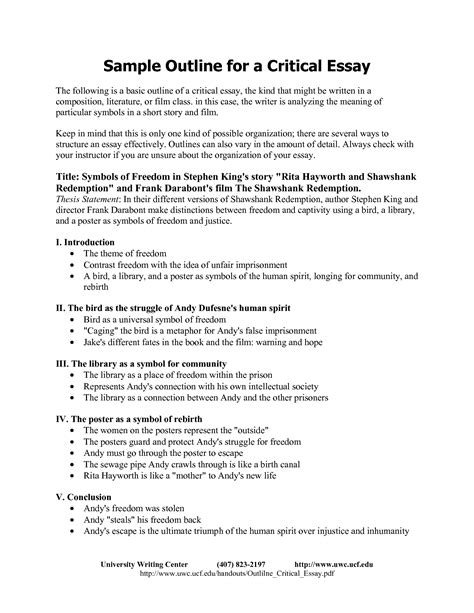 Structure Of A Critical Essay by Best Photos Of Self Critique Paper Exle Self Evaluation Essay Exles Critical Essay