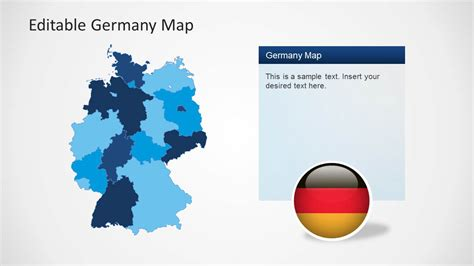 editable germany map template for powerpoint slidemodel