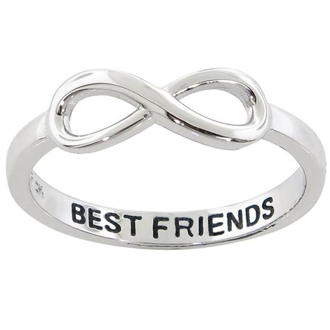 solid sterling silver 14k white gold quot best friend