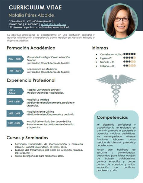 Modelo Curriculum Vitae Imagenes Elaboraci 243 N Curriculum De M 233 Dicos O Enfermeras Plantillas De Cv Para Hospitales Cvexpres