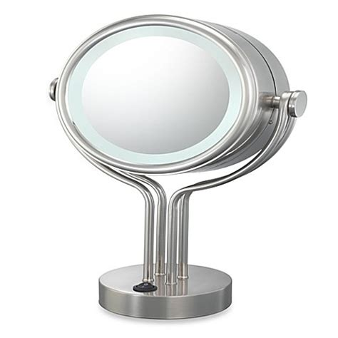 bathroom vanity mirrors brushed nickel buy kimball young lighted 5x 1x magnification free