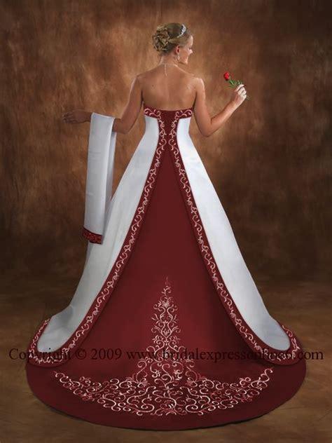 Burgundy And White Wedding Dresses Dressing » Home Design 2017