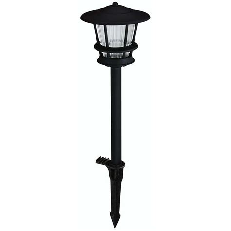 Walkway Lighting Fixtures Hton Bay Low Voltage Black Outdoor Integrated Led 2 Tier Landscape Path Light With Textured